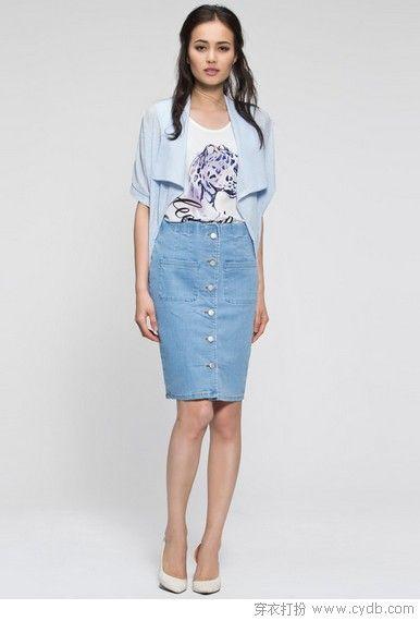 穿牛仔裙的夏天才最夯