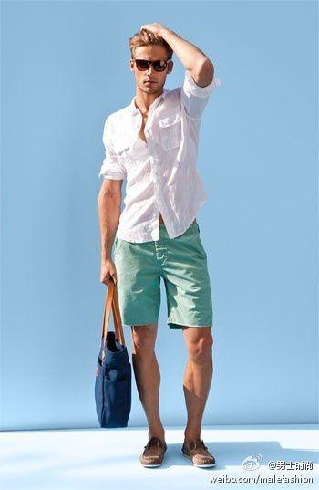 帅哥型男清爽一夏天